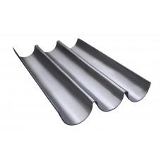 Лист волнистый стальной 310х560мм (3 волны)